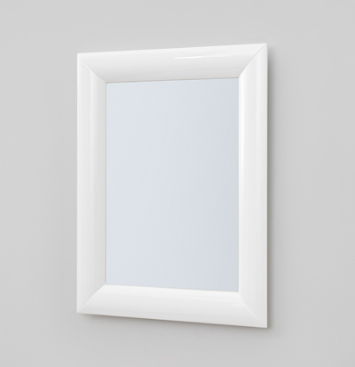 white frame mirror 70x90