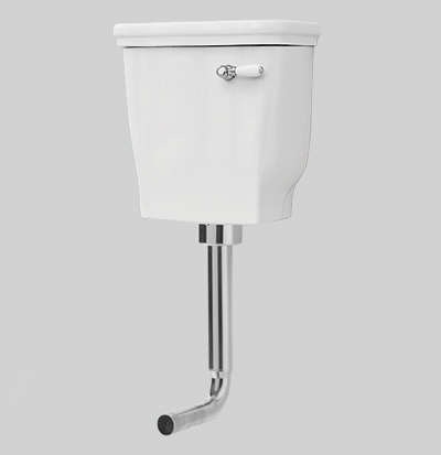 low level ceramic cistern with cover 42x41