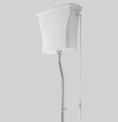 CIC006 - high ceramic cistern with cover - 44x39