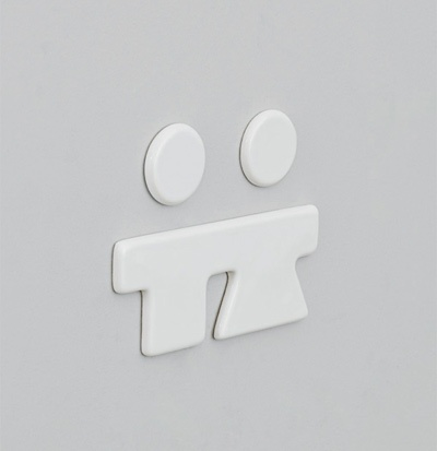 ceramic icon for bathroom door male+female 23x15