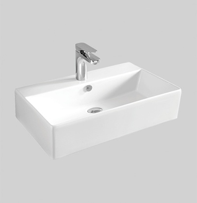 QUL001 wall hung countertop washbasin 50 X 27