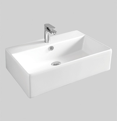 QUL003 wall hung countertop washbasin 65 X 48