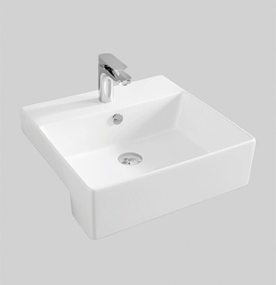 QUL004 semi recessed washbasin 50 x 48