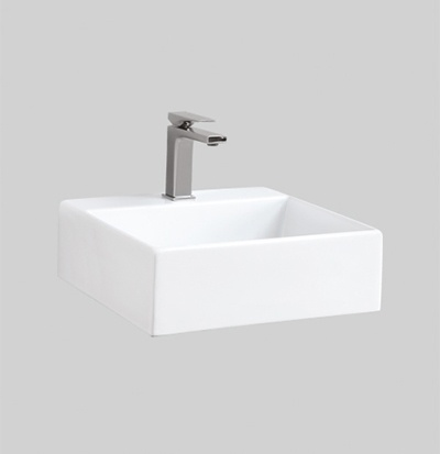 QUL005 wall hung countertop washbasin 40X38