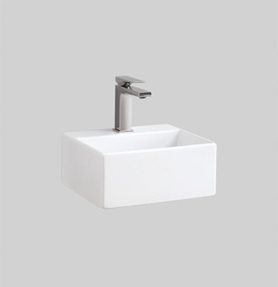QUL006 wall hung countertop washbasin 32X27